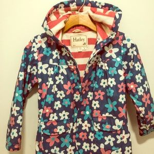 Hatley Girl's Floral Raincoat size 6